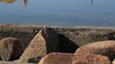 Concrete And Sea Stones Footage