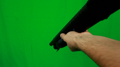 Shotgun Pull Out From Above - Green Screen Live Action