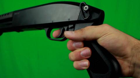 Shooting Shotgun Three Times Without Reload Footage