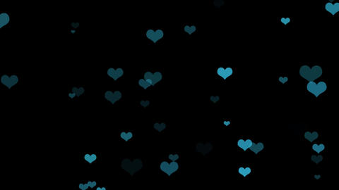 Nice Hearts Background Overlay Live Action