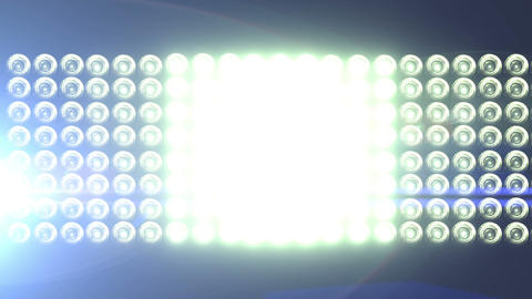 Big Horizontal Flashing Floodlights With Lens Flare 2 Footage
