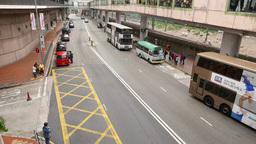 Mass transport in Hong Kong, Bus, taxi, train, metro, pedestrian Footage