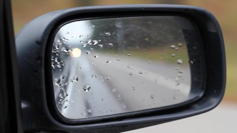 Car Side Mirror Footage