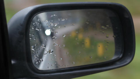 Car Side Mirror View Footage