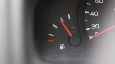 Fuel Gauge Car Dashboard Footage