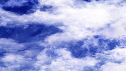 Blue Sky Clouds Moving Horizontally Footage