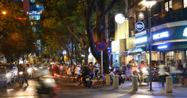 HO CHI MINH / SAIGON, VIETNAM - 2015: Street traffic asian city night time lapse Footage