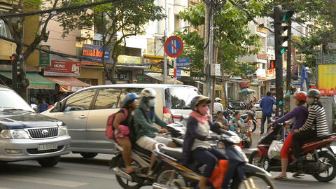HO CHI MINH / SAIGON, VIETNAM - 2015: Scene asia people asian city lifestyle Live Action