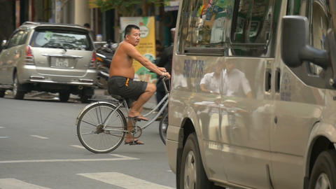 HO CHI MINH / SAIGON, VIETNAM - 2015: Scene asia people asian city lifestyle Footage