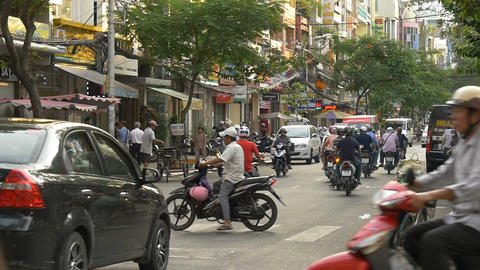 HO CHI MINH / SAIGON, VIETNAM - 2015: Slow motion Vietnamese people streets Footage