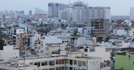 HO CHI MINH / SAIGON, VIETNAM - 2015: City skyline buildings offices apartments Footage