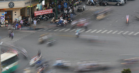 HO CHI MINH / SAIGON, VIETNAM - 2015: Time lapse street asia people asian city Live Action