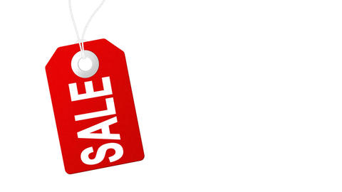 Sale animation with red tags for shopping sales and promotions Footage