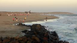 Spain The Canary Islands Gran Canary 030 Maspalomas beach at sunset Footage
