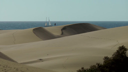 Spain The Canary Islands Gran Canary 005 imposing dunes of Maspalomas and ocean Footage