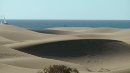 Spain The Canary Islands Gran Canary 003 Imposing Dunes Of Maspalomas And Ocean stock footage