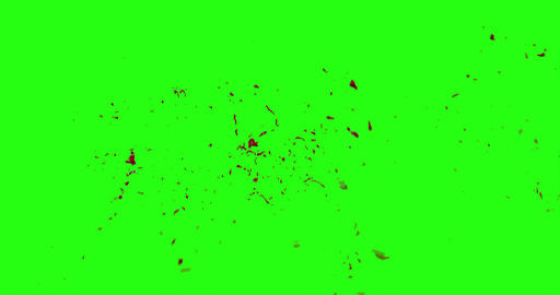 4k Blood Burst Motion Blur (Green Screen) 145 Footage