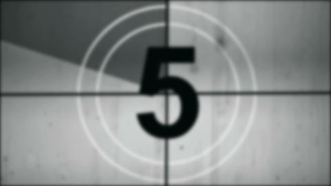 Countdown. Film Leader With Sound stock footage