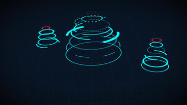 Science fiction design element rotating circle HUD user interface After Effects Project