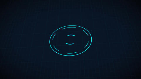 Science fiction design element rotating circle HUD user interface - 2