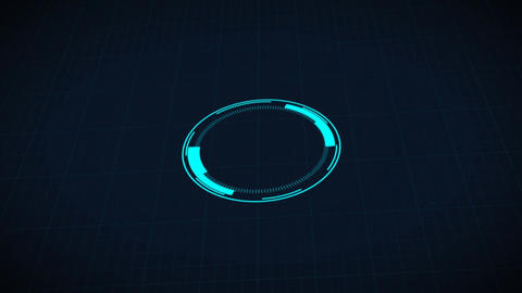 Science fiction design element rotating circle HUD user interface - 3