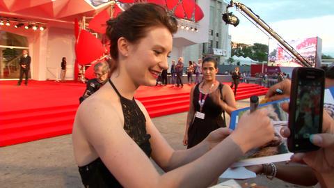 Mia Wasikowska red carpet Footage
