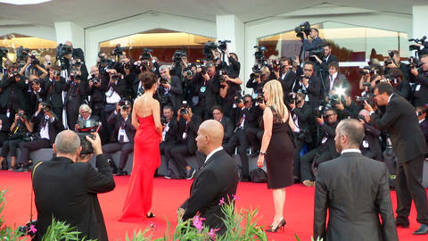 Sandra Bullock Venice red carpet Footage