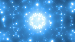 Abstract Blue Background Fractal Sun Animation