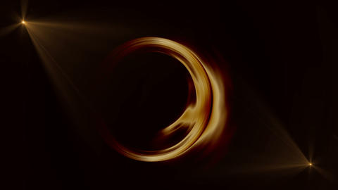 Golden Circular Motion With Rays Animation