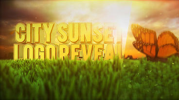 City Sunset Logo Reveal After Effects Template