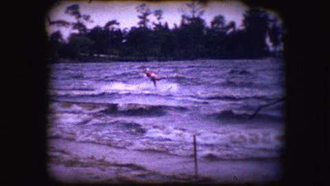 Vintage 8mm footage of Water Skiers Footage