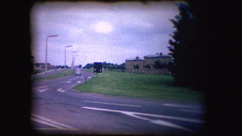 Vintage 8mm footage of 1950's British Traffic Footage