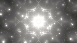 Abstract Silver Background Fractal Sun Animation
