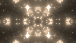 Abstract Gold Background Fractal Sun Animation