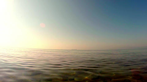 a light breeze, the view into the distance from the coast Footage
