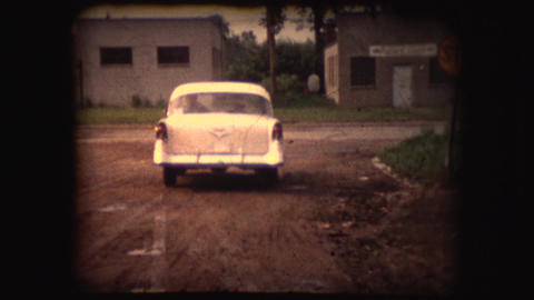 Vintage 8mm footage of a Chevy driving Footage