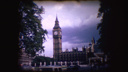 Vintage 8mm Footage Of Big Ben stock footage