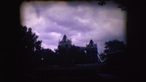 Vintage 8mm footage of London Bridge Footage