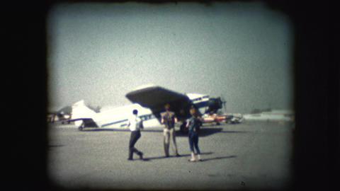Vintage 8mm footage of plane taking off Footage
