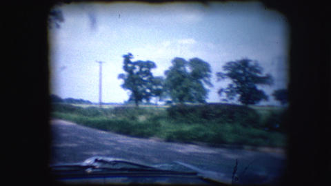 Vintage 8mm footage of the British countryside Footage