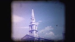 Vintage 8mm Footage Of St Martin-in-the-Fields stock footage