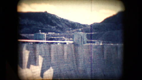 View of the Hoover Dam in the mid 1960's Live Action