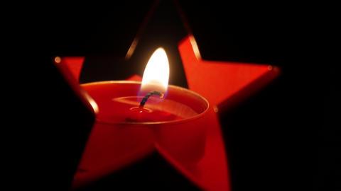 Christmas candle Footage