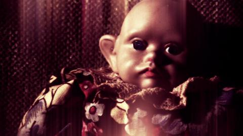 4 K Scary Weird Doll 8 Stylized stock footage
