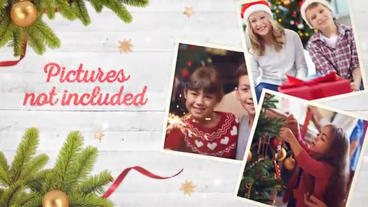 Christmas photo cards After Effects Template