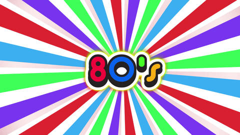 Old School 80s Vintage Motion Graphic Background Animation