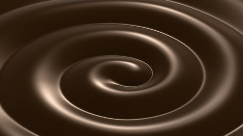 Beautiful Swirl Chocolate Close-up Looped Animation. 4k Animation