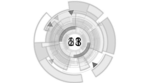 4k rotation tech GPS background,software panel random number Footage