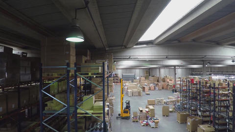 Logistics Warehouse Worker Stock Video Footage