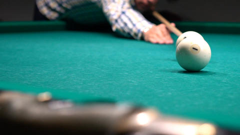 Russian Billiards, Ball Gets In The Pocket Stock Video Footage